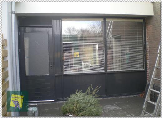 Vervangen Entree Garage Door Complete Pui Glashandel In T Gooi